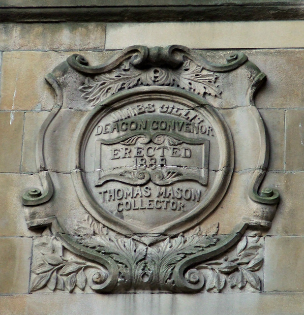 Date stone on The Trades House
