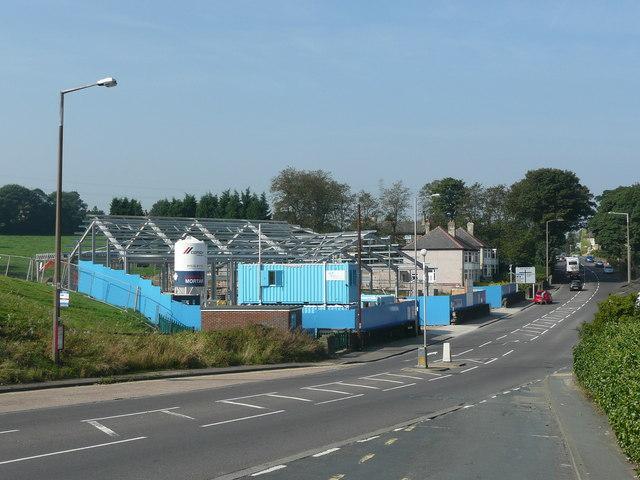 New fire station under construction, Clough Lane