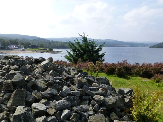 Cairn commemorating the inauguration of the Kielder Water Scheme