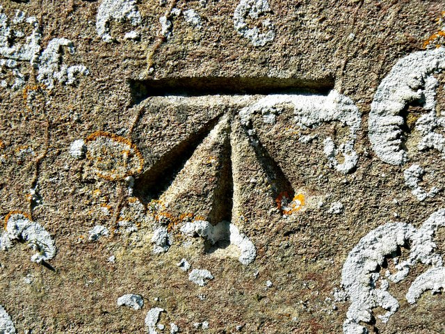 Ordnance Survey benchmark, St Andrew's Church, Wootton Rivers, Wiltshire