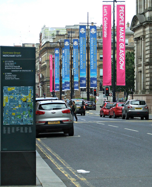 Banners on George Square