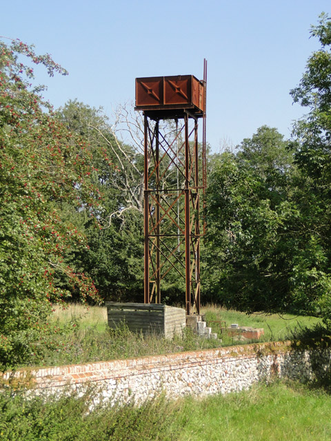 Elegant water tower at Station Farm