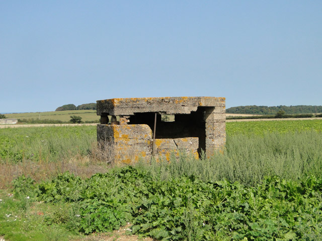 Type FW3/22 pillbox in a dilapidated condition