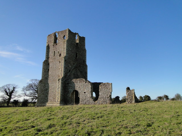 Egmere St Edmund's ruined church