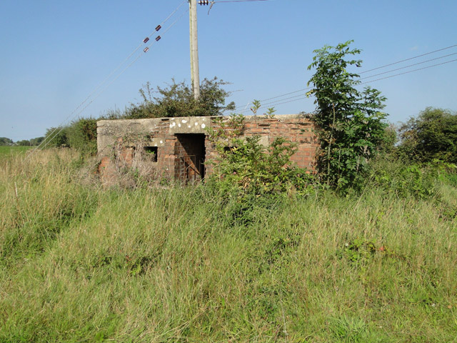 FW3/24 Pillbox beside the B1105 at Egmere