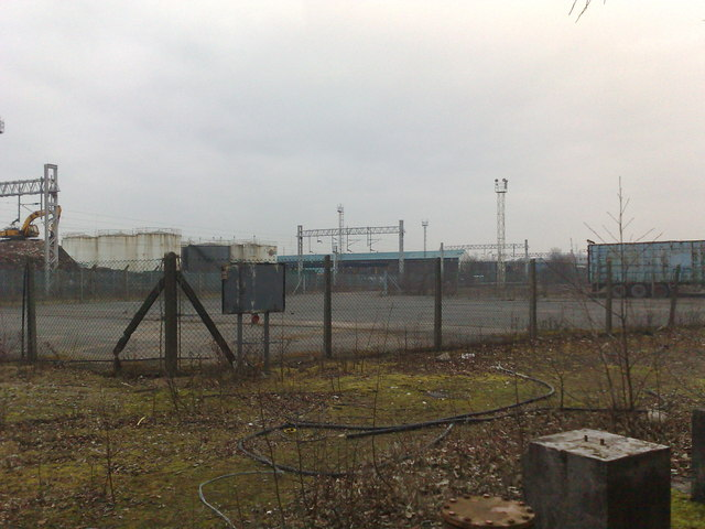 Industrial wasteland near Longbridge Hayes