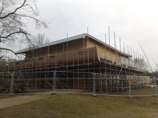 Westport Lake Visitor Centre under construction