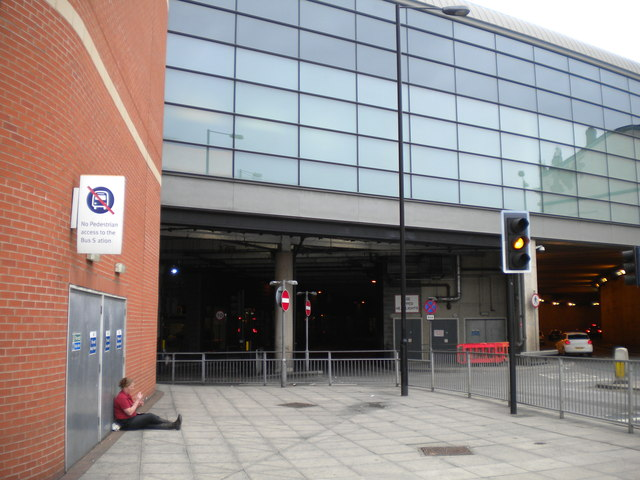 South entrance to Doncaster bus station