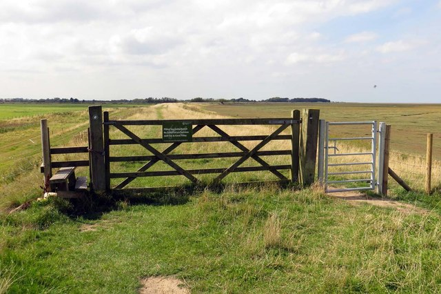 Gates on the sea wall
