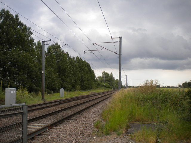 East Coast Main Line south of Carlton on Trent