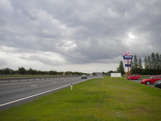 A1 south of Carlton on Trent