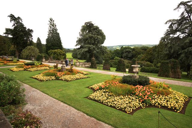 Terrace borders at Tyntesfield House