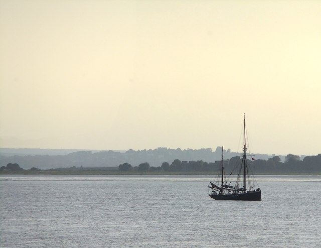 A sailing trawler in the Thames Estuary
