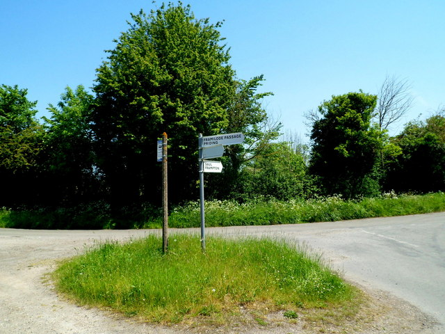 Signpost at a junction south of Framilode