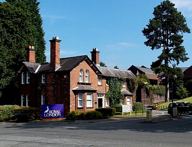 Lodge at the entrance to Royal London House, Wilmslow