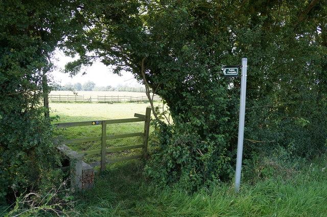 Stile near Glebe Farm