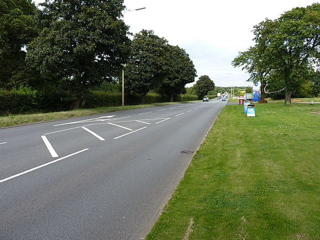 A460 Cannock Road at Shareshill