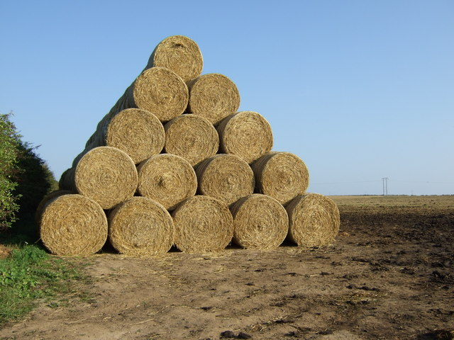 Pile of round bales, Thornholme Field