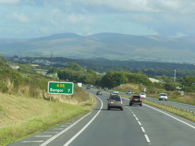 The A55 North Wales Expressway towards junction 8