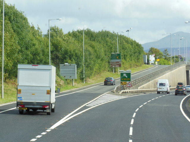 The A55 North Wales Expressway at  junction 8
