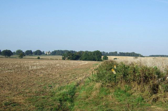Field boundary near Thornholme