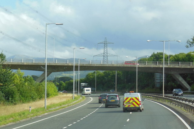 The A55 North Wales Expressway at  junction 9