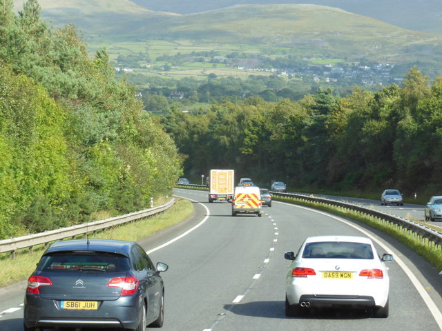 The A55 North Wales Expressway towards junction 11