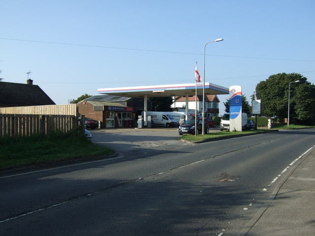 Service station on the A614,  Thornholme