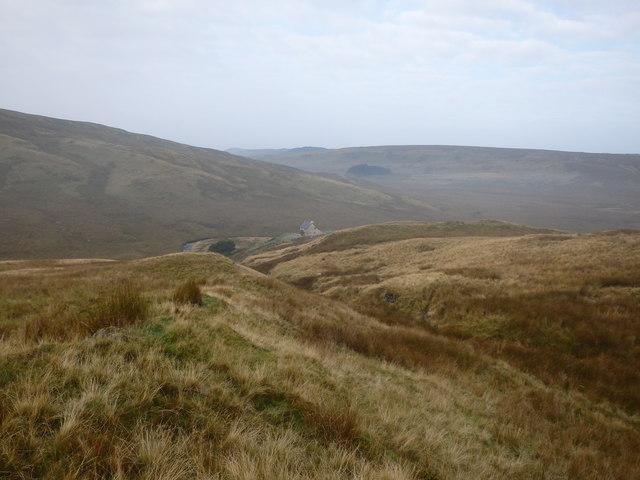 Descending Llechwedd mawr