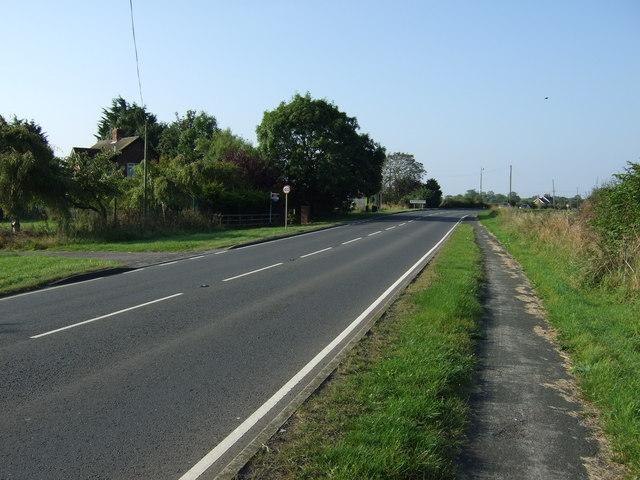 A614 towards Driffield