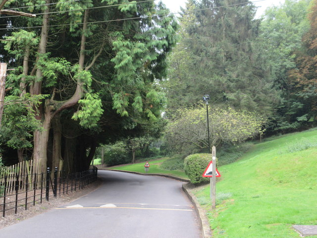 Bridleway and footpath junction near Woldingham School