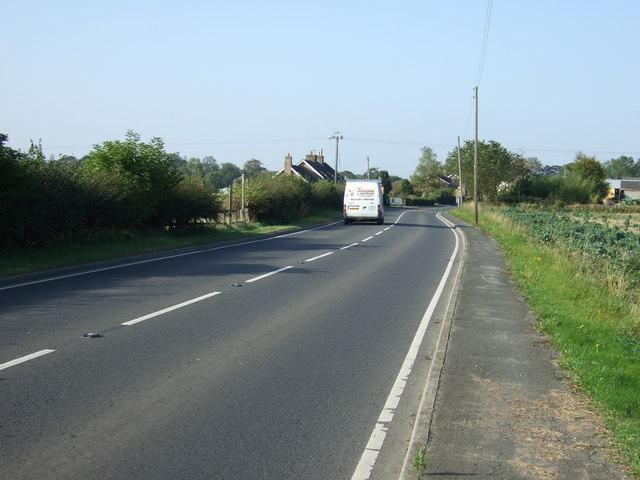 A614 into Burton Agnes