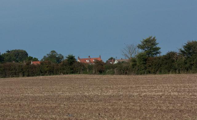 Harvested field near Holme Next The Sea