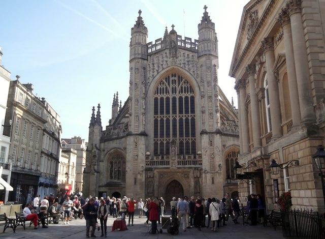 West frontage, Bath Abbey