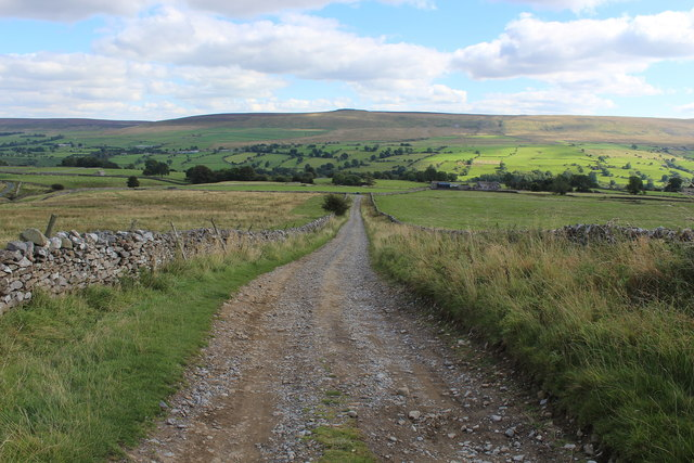Walled Track descending into Coverdale