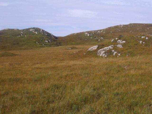 Summit of big cnoc above Clais Fearna near Lochinver