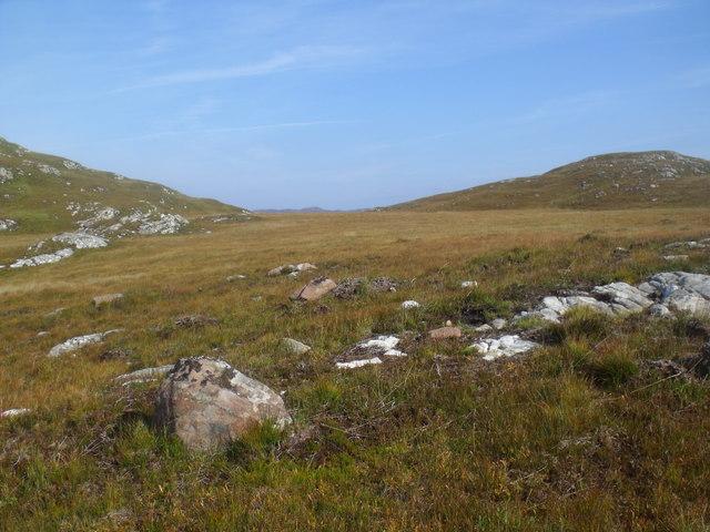 Peat blanket north of Cnoc Breac near Lochinver