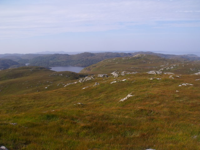 View west from Cnoc Breac near Lochinver
