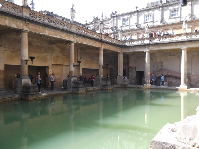 Down at the Great Bath, Bath