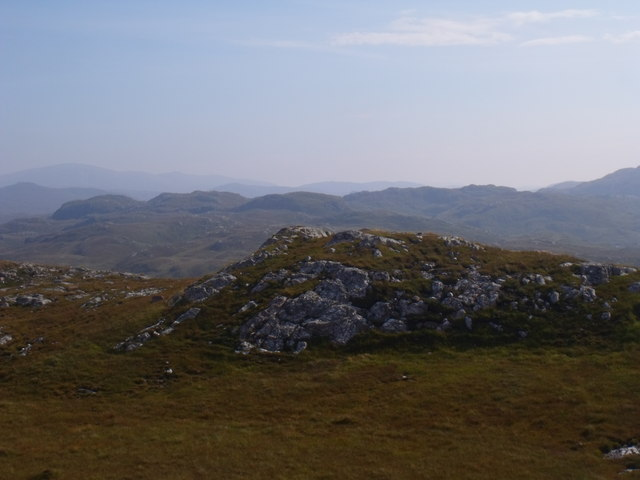 View east from Cnoc Breac near Lochinver