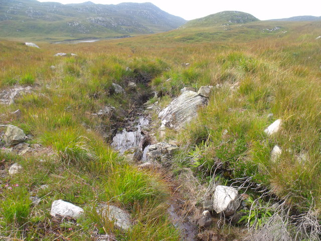 Outlet burn from Loch a' Ghille near Lochinver