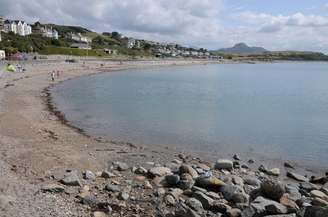 The beach at Criccieth