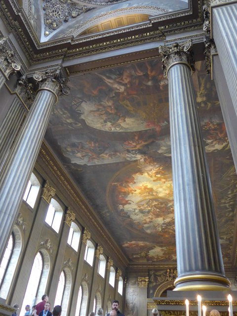 Inside The Painted Hall, Greenwich (i)