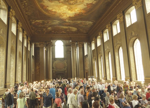 Inside The Painted Hall, Greenwich (v)