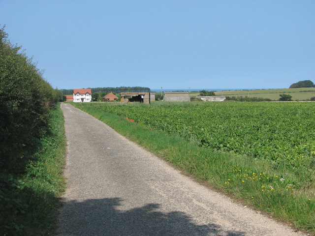 The driveway to Westgate Farm