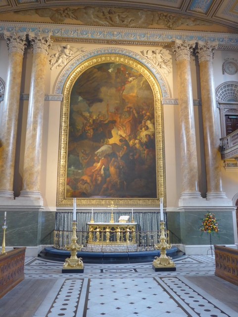 Inside the Chapel of SS Peter & Paul, Old Royal Naval College, Greenwich (m)