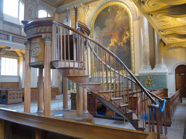 Inside the Chapel of SS Peter & Paul, Old Royal Naval College, Greenwich (n)