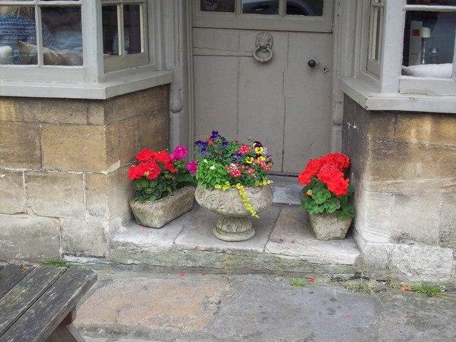 Flowers in High Street, Burford