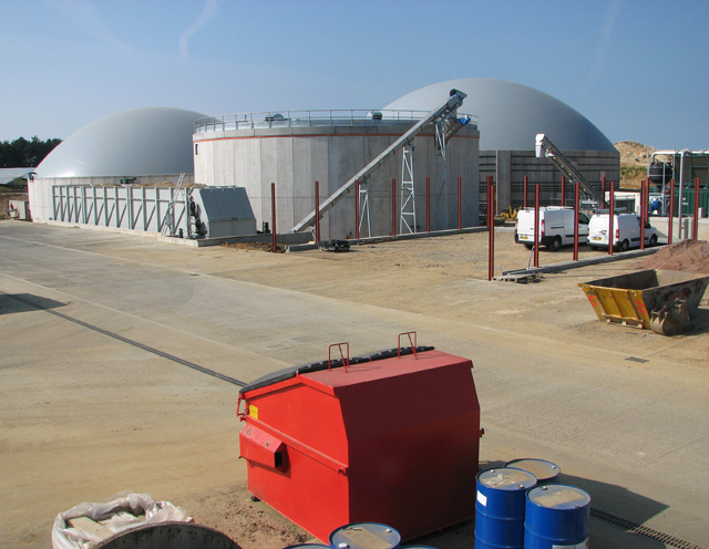 Anaerobic digestion plant at Egmere