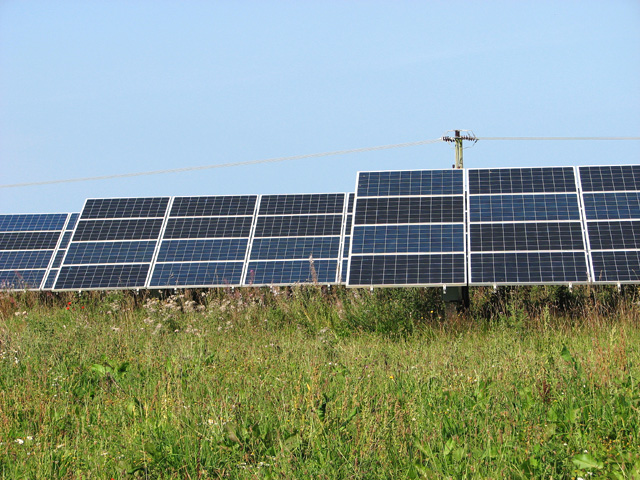 Solar panels at Egmere